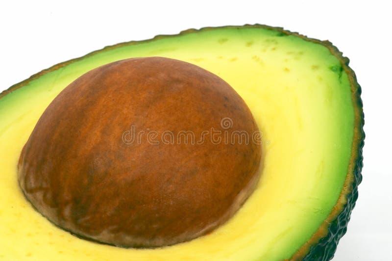 Schneiden Sie Avocadonahaufnahme lizenzfreie stockfotos
