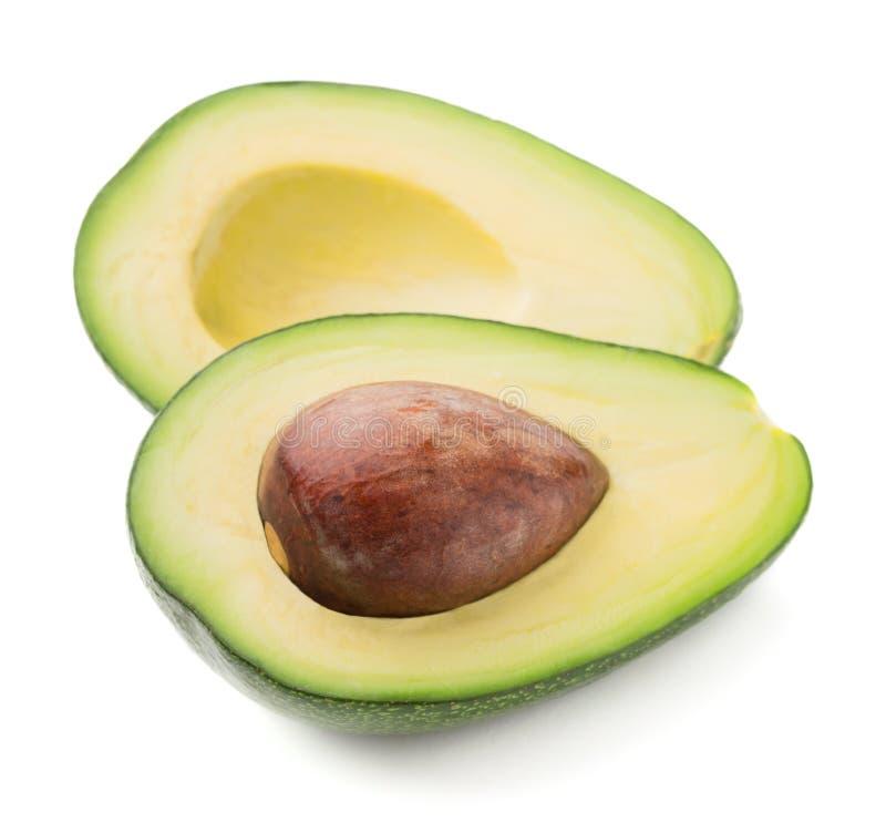 Schneiden Sie die lokalisierte Avocado lizenzfreie stockbilder