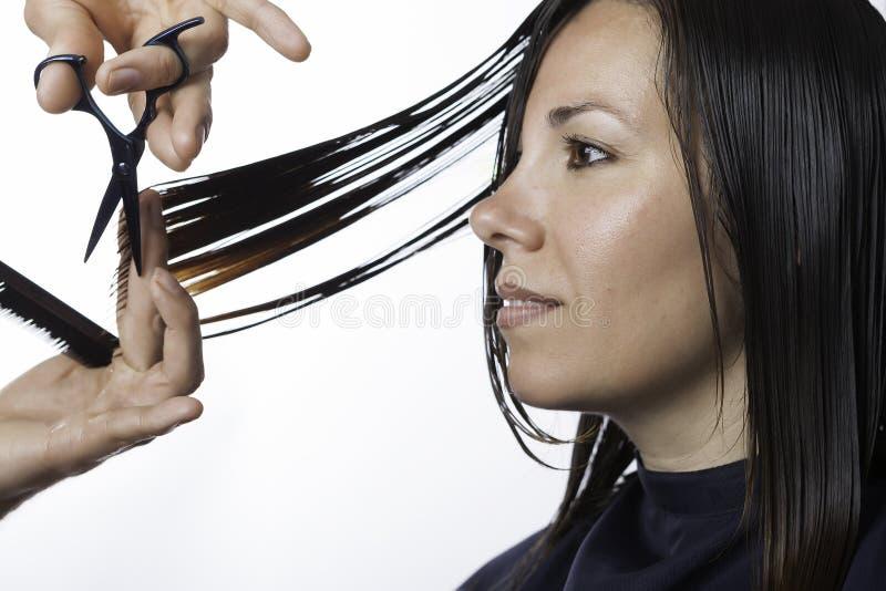Schneiden Sie am Friseur stockfotografie