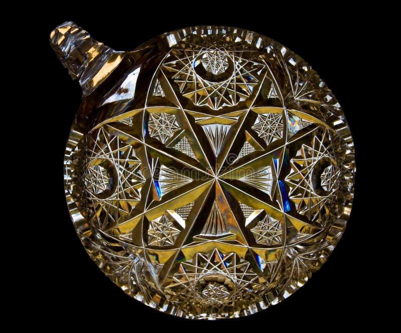Schneiden Sie Kristallsüßigkeit-Teller lizenzfreie stockfotografie