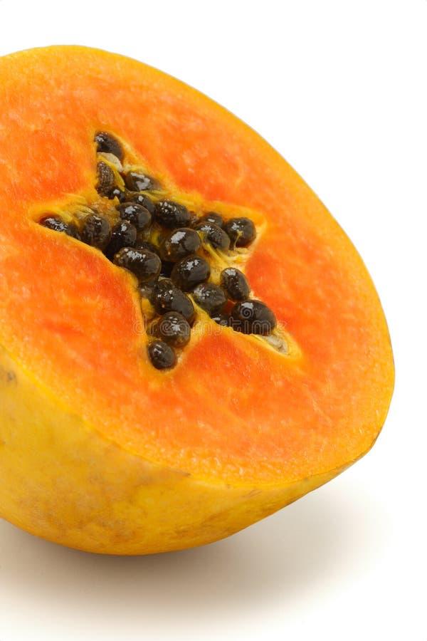 Schneiden Sie Papayafrucht lizenzfreie stockfotos