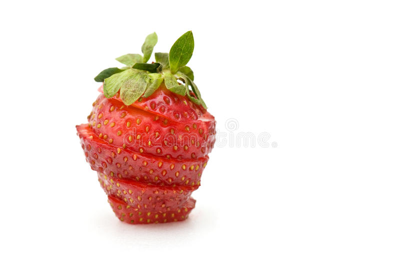 Schneiden Sie strawberriy lizenzfreie stockfotografie