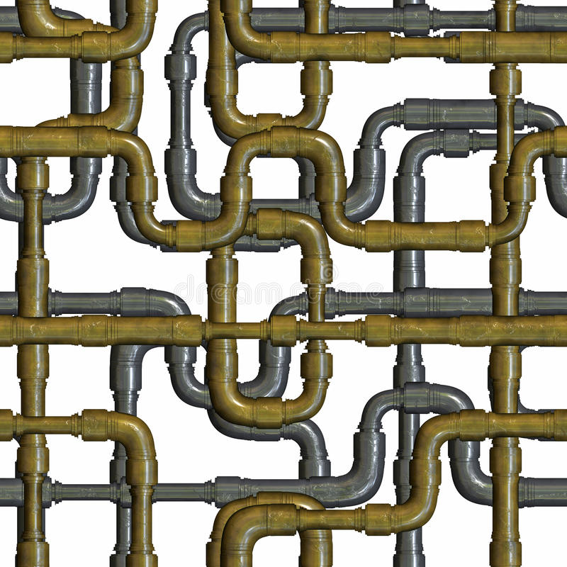 Schneidene Metallrohre lokalisiert auf Weiß lizenzfreie abbildung