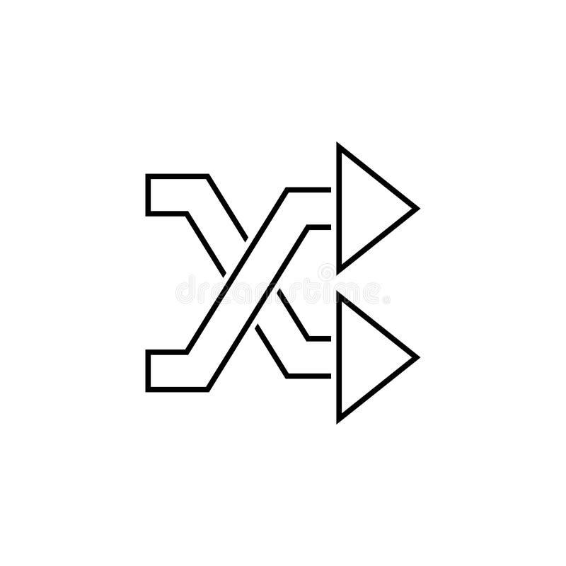 Schneidene Pfeilikone Dünne Linie Ikone für Websitedesign und Entwicklung, APP-Entwicklung Erstklassige Ikone stock abbildung