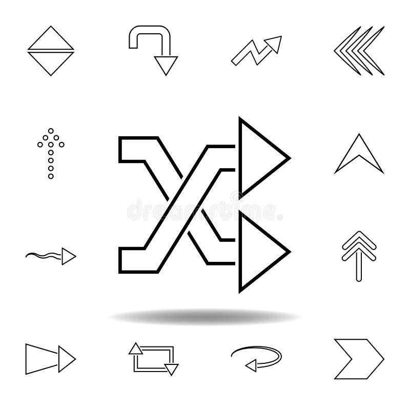 Schneidene Pfeilikone Dünne Linie Ikonen eingestellt für Websiteentwurf und Entwicklung, Appentwicklung Erstklassige Ikone vektor abbildung