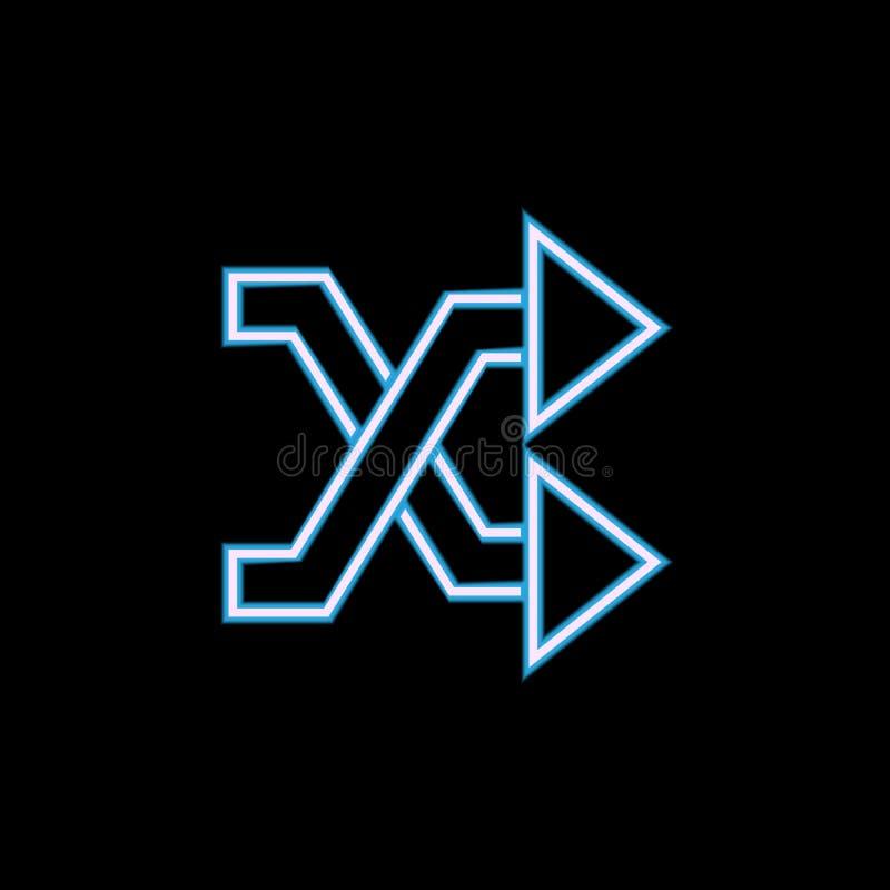 schneidene Pfeilikone in der Neonart Ein der Netzsammlungsikone kann für UI, UX verwendet werden stock abbildung