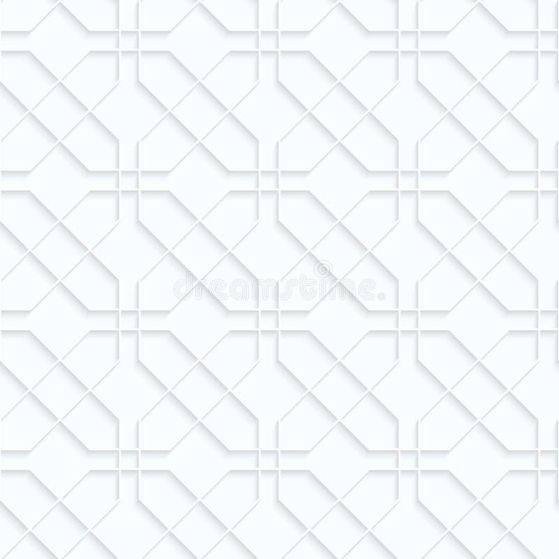 Schneidene Rechtecke des Weißbuches der Rüschen lizenzfreie abbildung