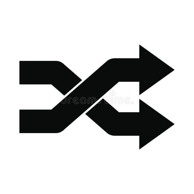 Schneidene schwarze einfache Ikone der Pfeile lizenzfreie abbildung
