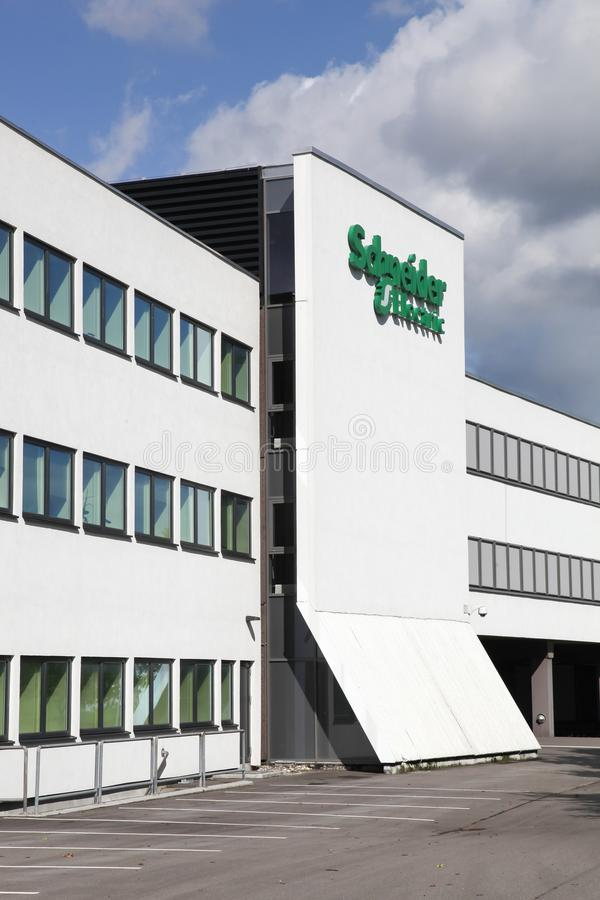 Schneider Electric building and offices. Ballerup, Denmark - March 9, 2017: Schneider Electric building and offices. Schneider Electric is a European stock photography