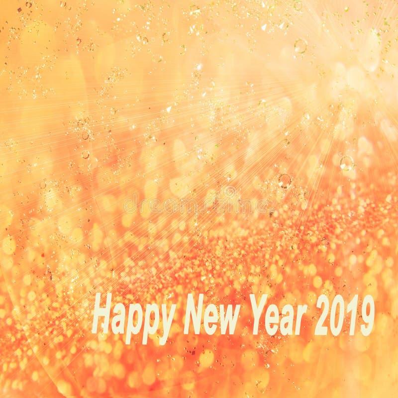 Schneiendes neues Jahr 2019 erzeugte Mieten Beschaffenheit oder Hintergrund stockbilder