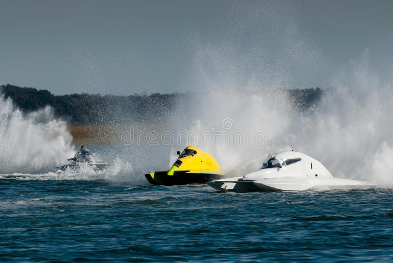 Schnellboot-Rennen stockfoto