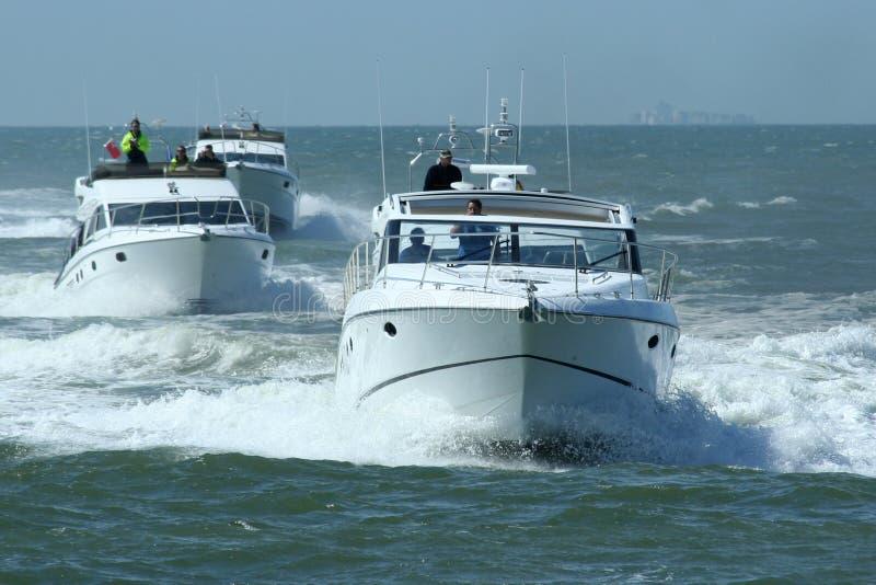Schnellboote lizenzfreie stockfotos