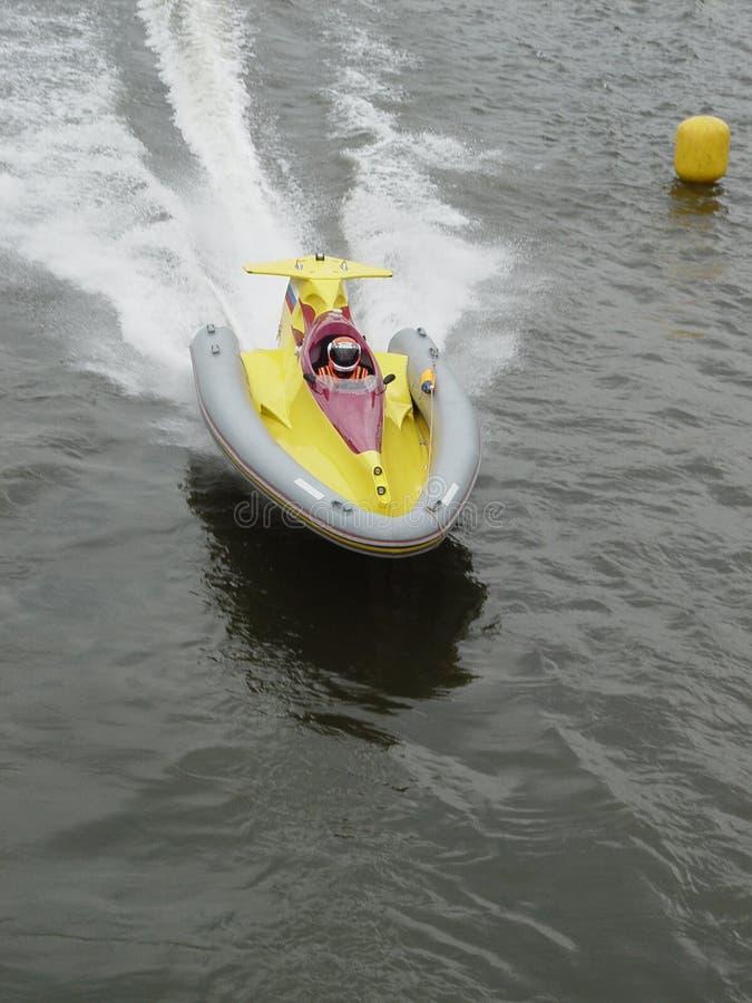 Schnellbootrennen stockfoto