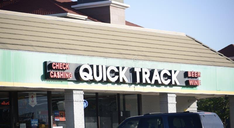 Schnelle Bahn-Tankstelle und Mini-Markt, Fort Worth, Texas stockbilder