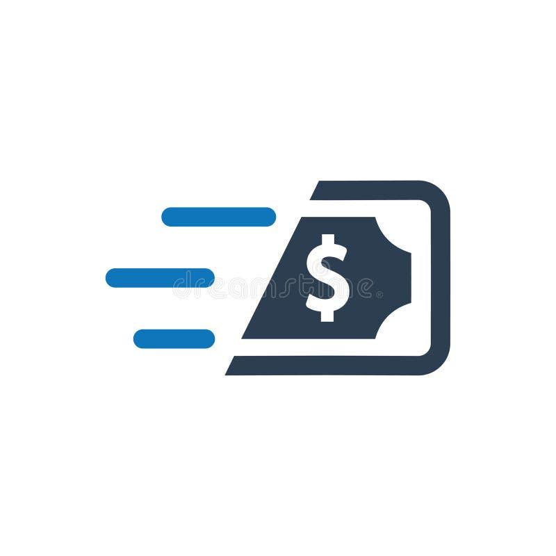Schnelle Bargeld-Ikone vektor abbildung