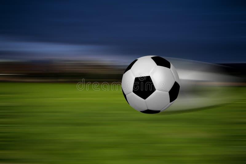 Schnelle Kugel in einem Stadion lizenzfreie abbildung