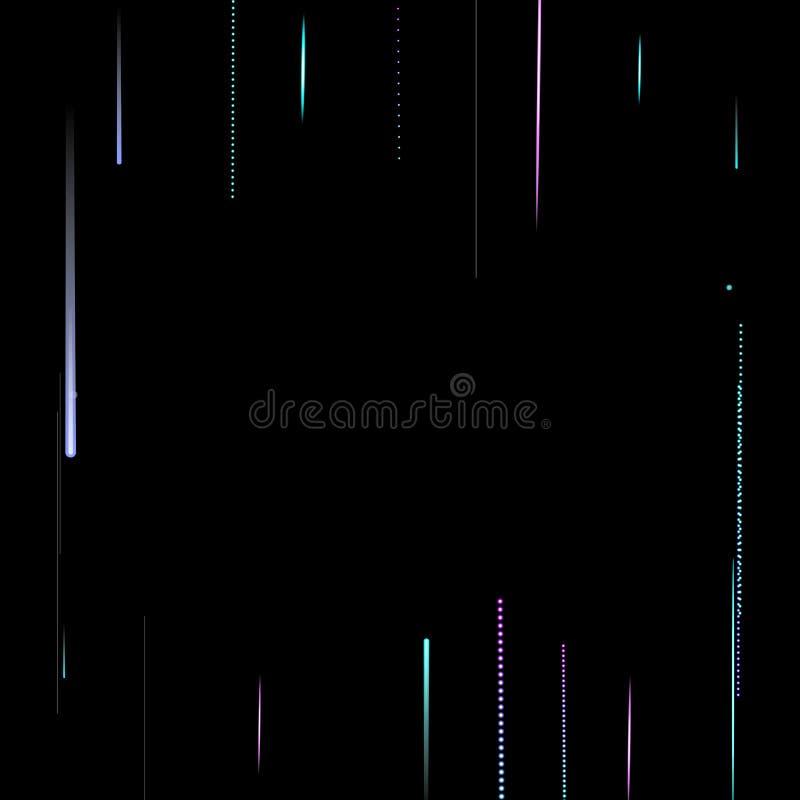 Schnelle Motion Neon Glare Dynamic Fallleuchte stock abbildung