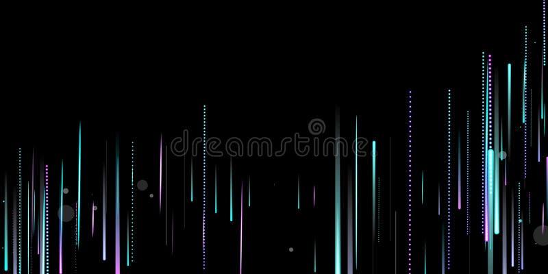 Schnelle Motion Neon Glare Dynamic Fallleuchte vektor abbildung