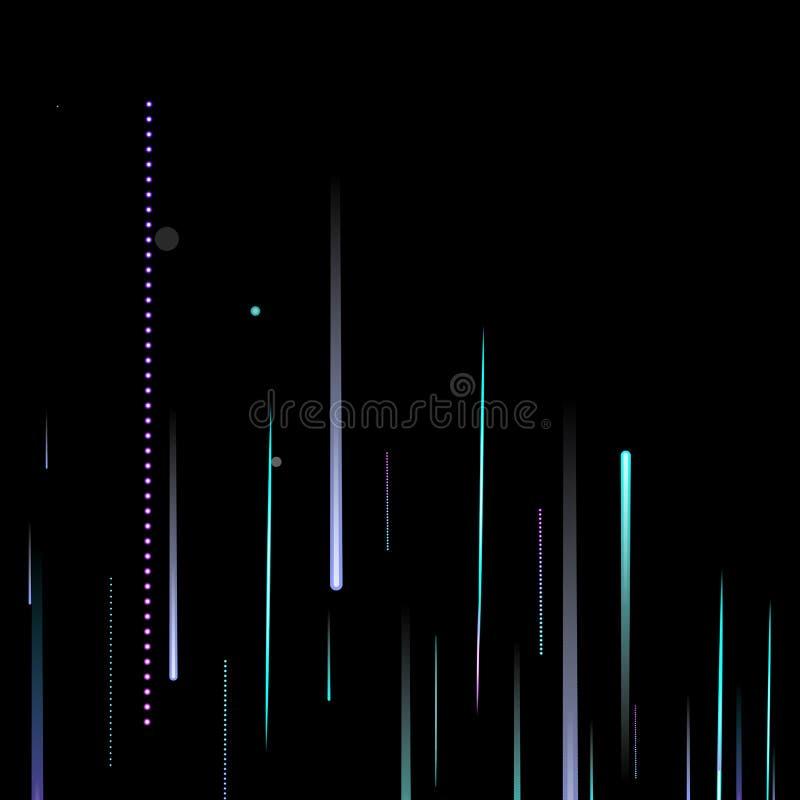 Schnelle Motion Neon Glare Dynamic Fallleuchte lizenzfreie abbildung