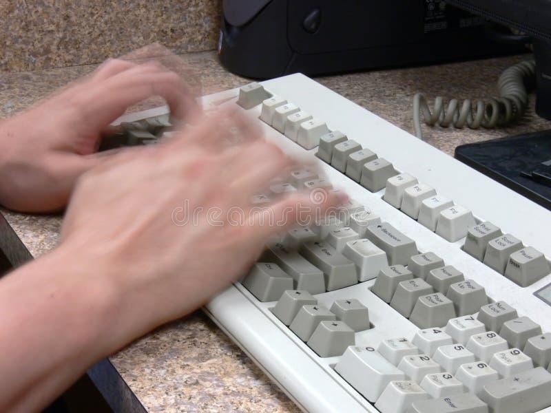 Schnelle Schreibkraft stockbilder