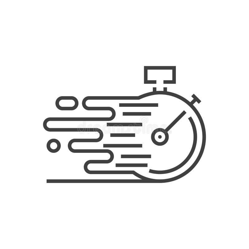 Schnelle Service-Vektor-Ikone lizenzfreie abbildung