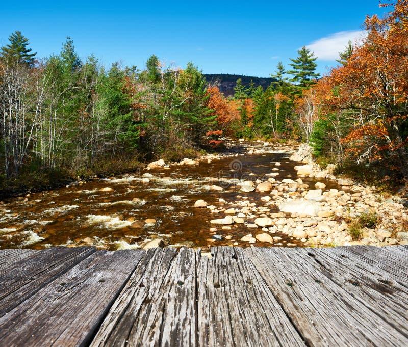 Schneller Fluss am Herbst lizenzfreies stockbild