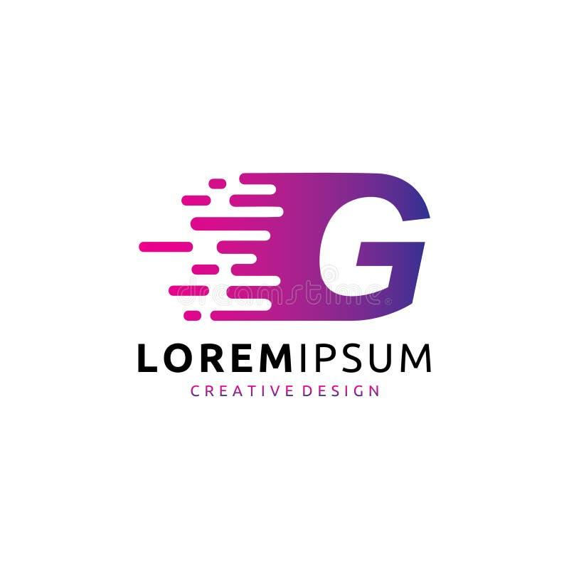 Schnelles Digital-Daten G-Buchstabe-Logo lizenzfreie abbildung