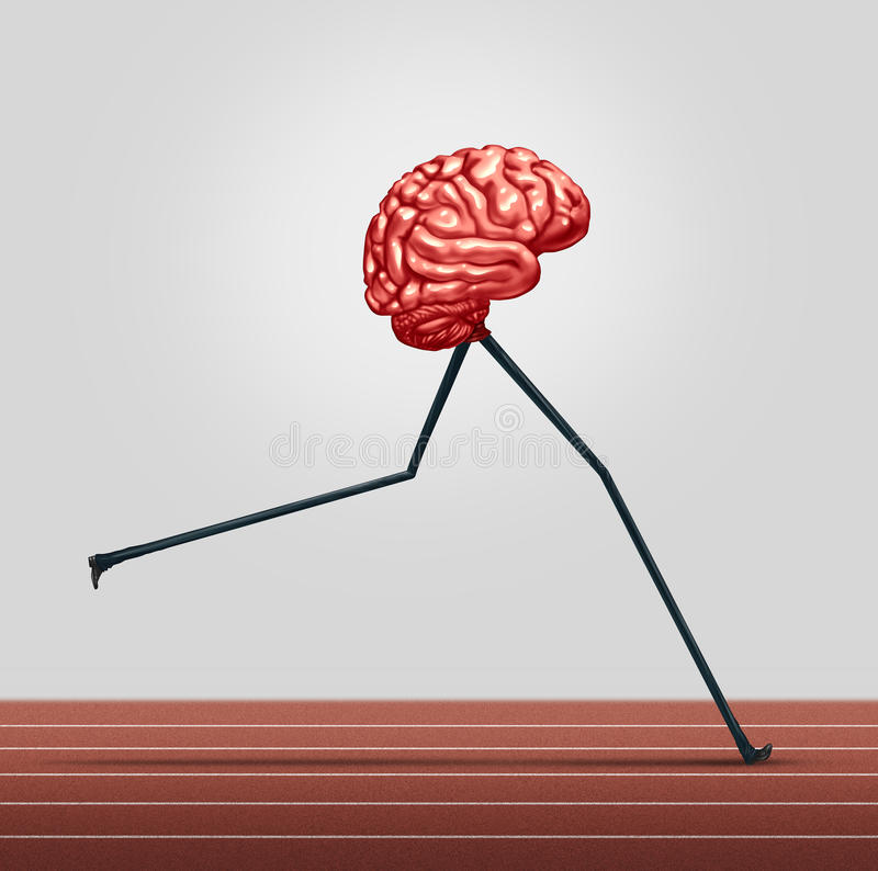 Schnelles Gehirn stock abbildung