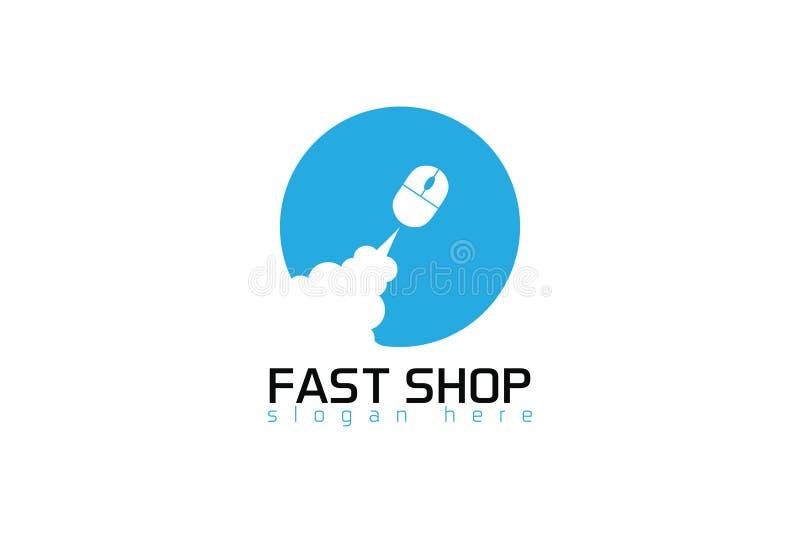 Schnelles on-line-Shoplogo vektor abbildung