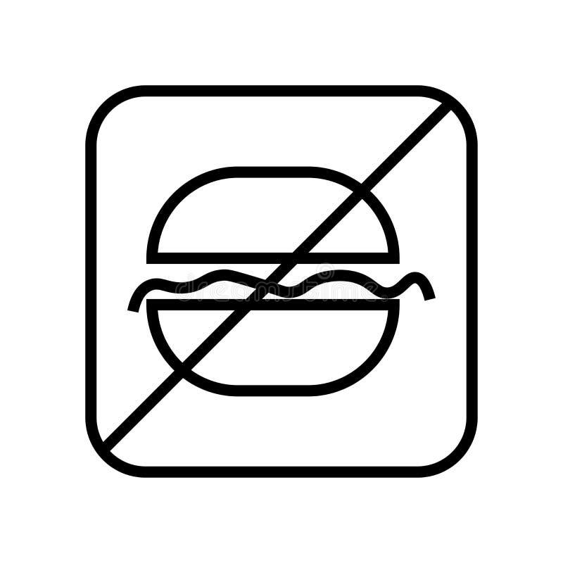 Schnellimbissikonenvektorzeichen und -symbol lokalisiert auf weißem Hintergrund, Schnellimbisslogokonzept stock abbildung