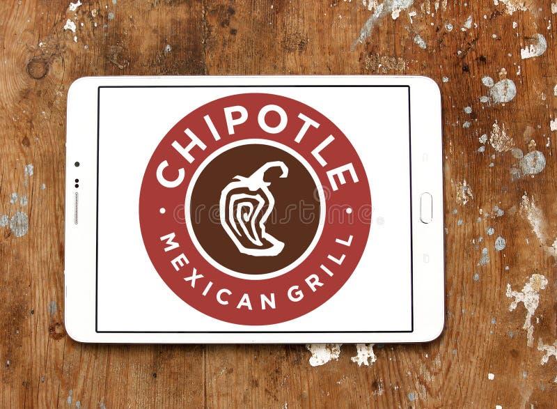 Schnellimbisslogo des chipotle-mexikanisches Grills lizenzfreie stockfotografie