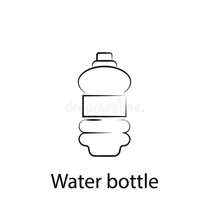 Schnellimbisswasserflaschen-Entwurfsikone Element der Nahrungsmittelillustrationsikone Zeichen und Symbole k?nnen f?r Netz, Logo, lizenzfreie abbildung