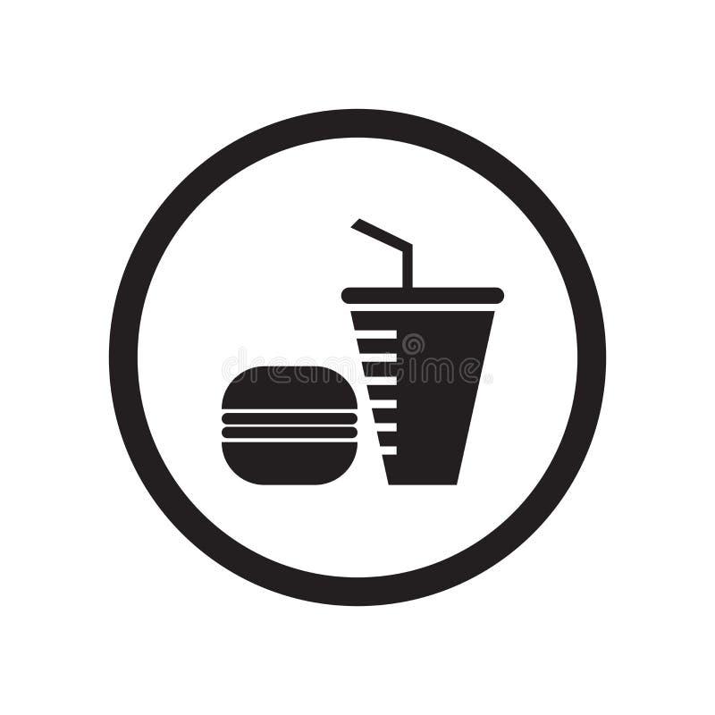 Schnellrestaurantikonenvektorzeichen und -symbol lokalisiert auf weißem Hintergrund, Schnellrestaurantlogokonzept stock abbildung