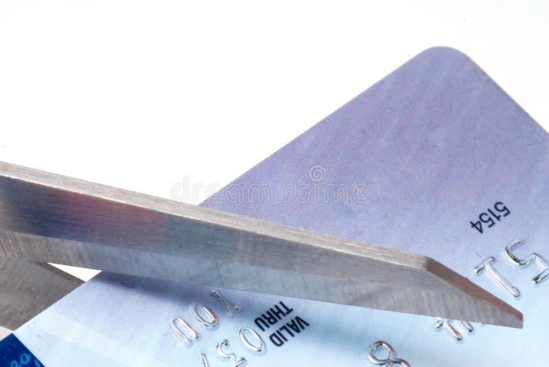 Schnitt einer Kreditkarte stockbilder