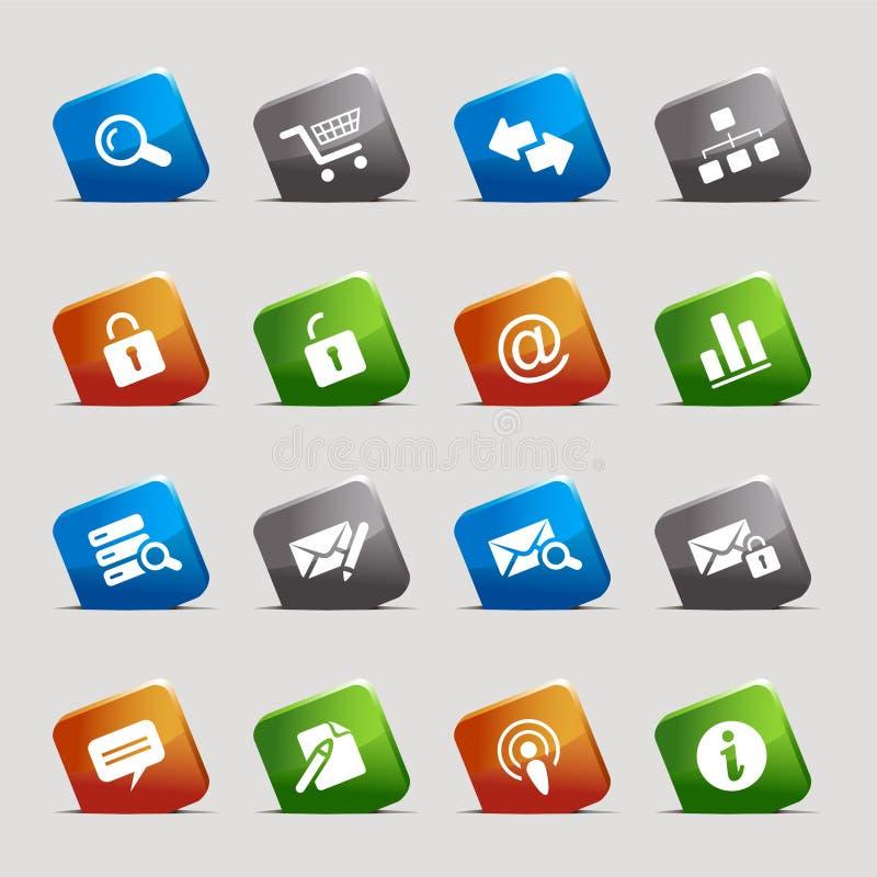 Schnitt-Quadrate - site-und Internet-Ikonen lizenzfreie abbildung