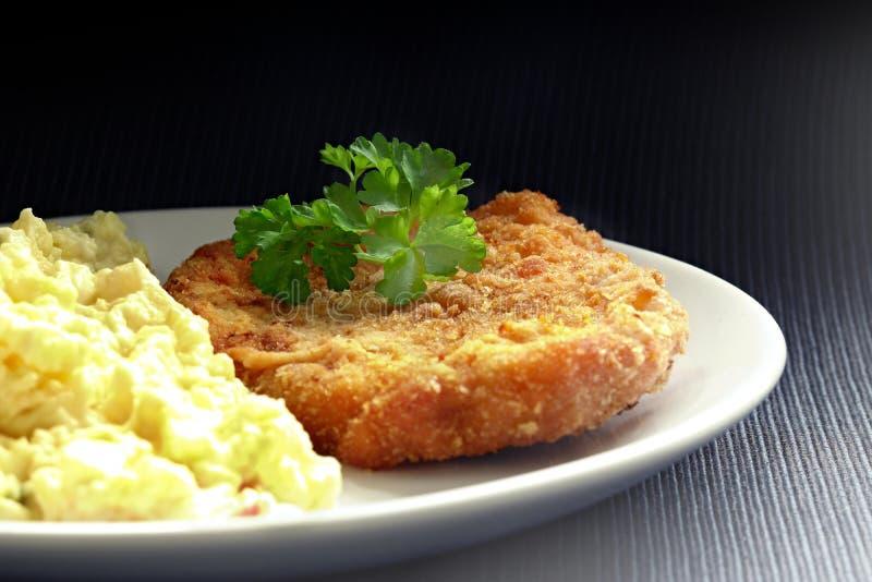 schnitzel fotografia stock
