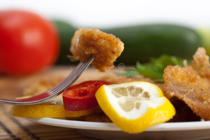 Download Schnitzel stock photo. Image of cucumber, lemon, gourmet - 10500164