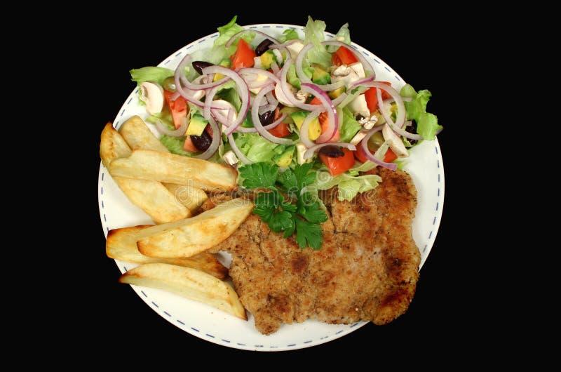 Schnitzel chaleureux 1 de poulet image libre de droits