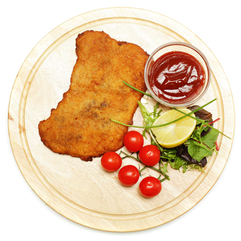 Schnitzel of escalope stock afbeelding