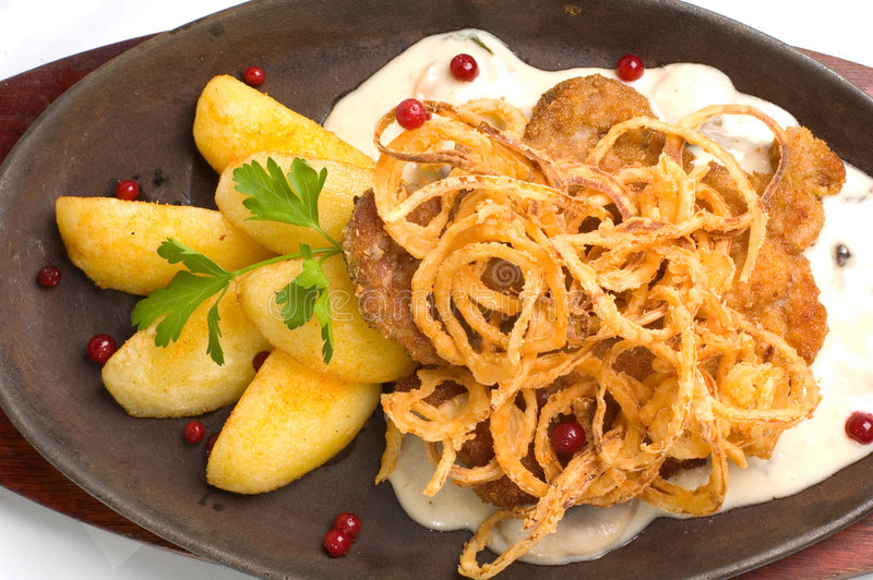 schnitzel wieprzowiny zdjęcia royalty free