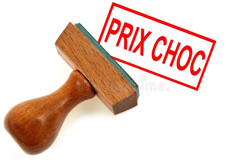 Schock-Preis geschrieben auf französisch vektor abbildung
