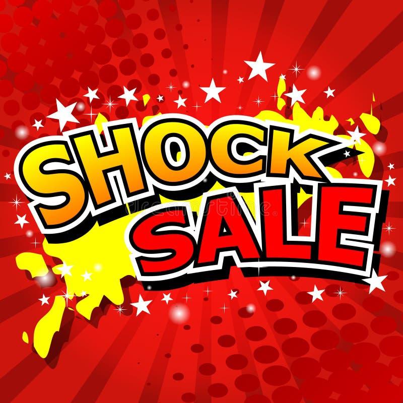 Schock-Verkauf stock abbildung