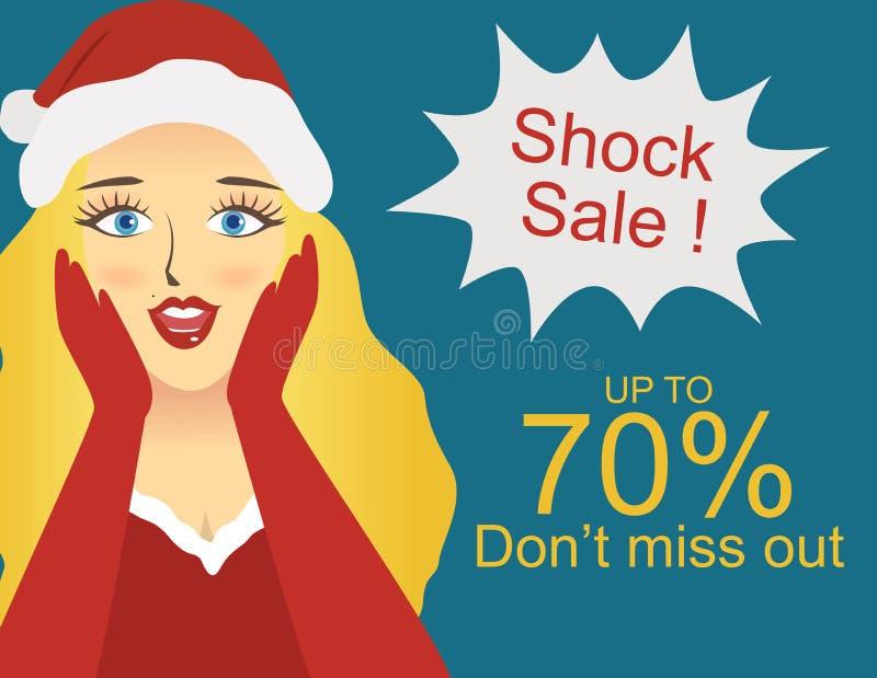 Schock-Verkauf lizenzfreie abbildung
