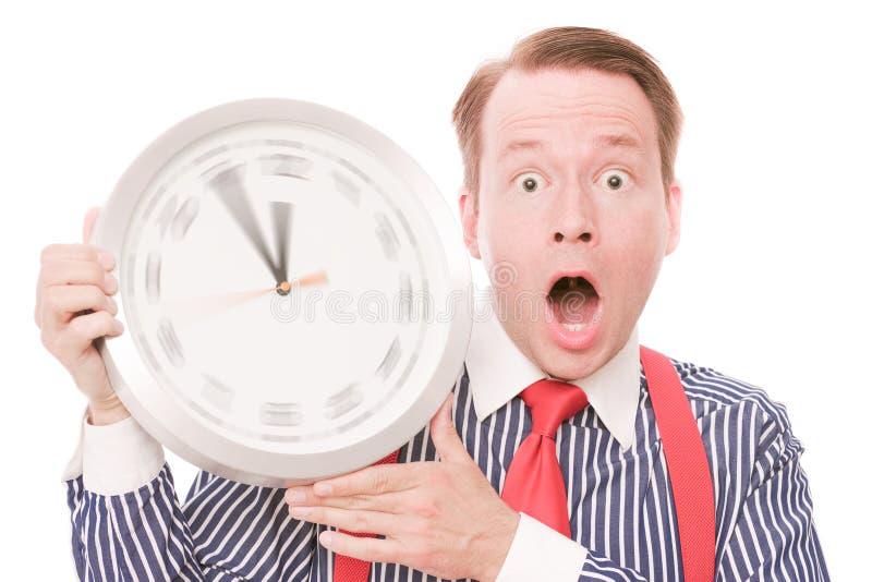 Schockierende Zeit (spinnende Uhrzeigerversion) stockfotos
