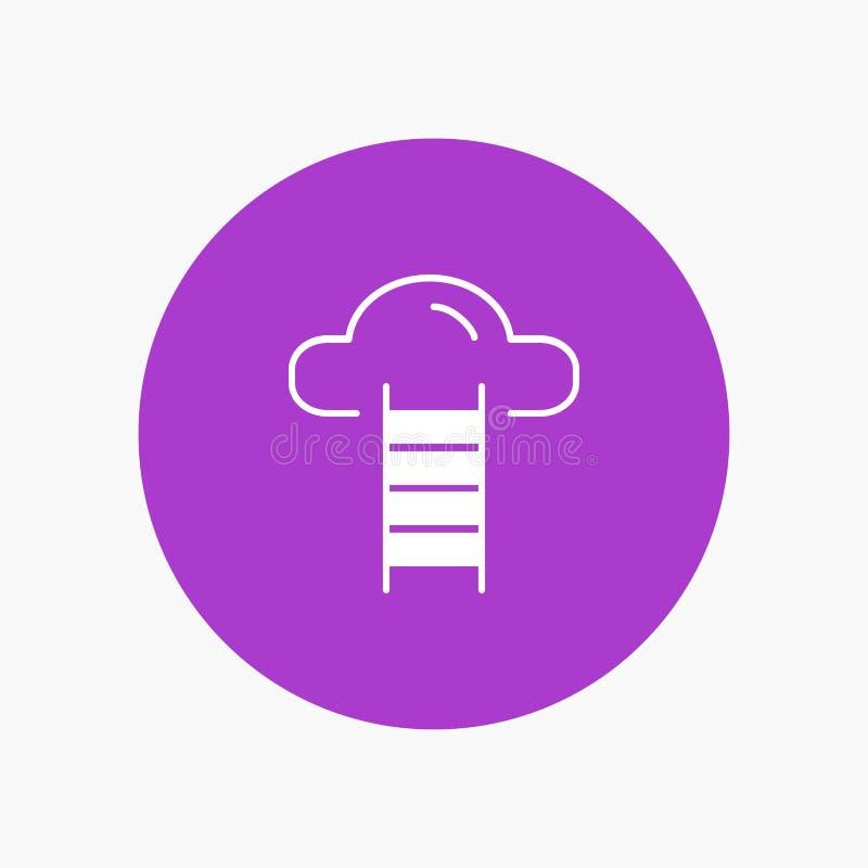 Schodek, chmura, użytkownik, interfejs ilustracji
