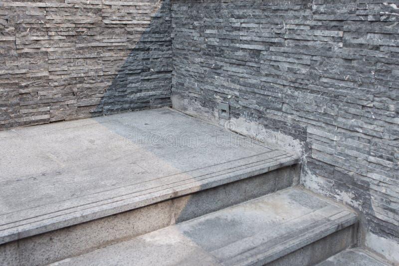 Schodka betonowy schody przy wej?ciem budynek zdjęcia stock