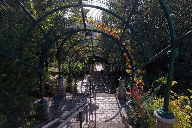 Schodki Belleville park fotografia royalty free