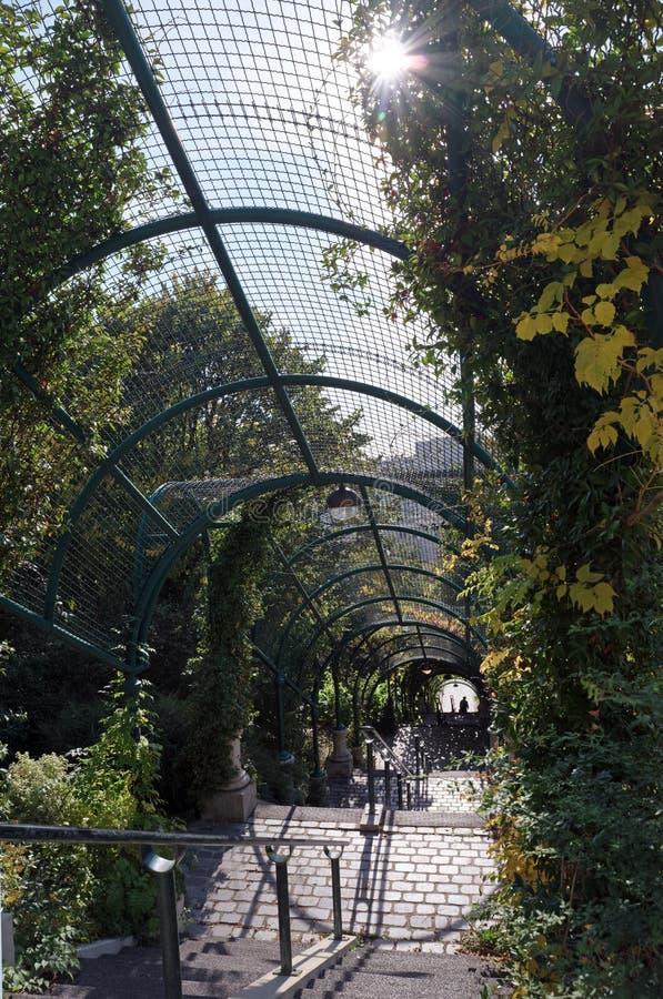 Schodki Belleville park obraz royalty free