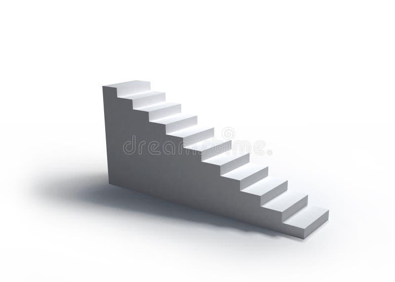 schodki biały ilustracja wektor