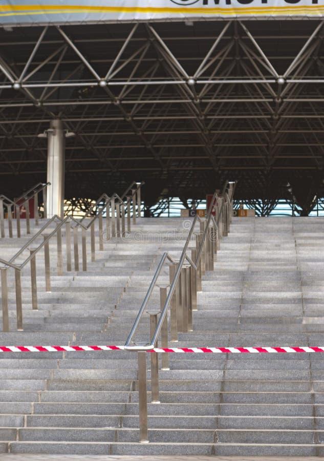 Schodki główne wejście arena hokeja mistrzostwa kopuła zdjęcie stock